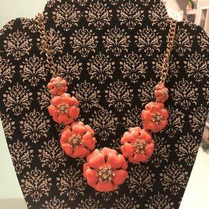 Jewelry - Beautiful flower necklace orange neon